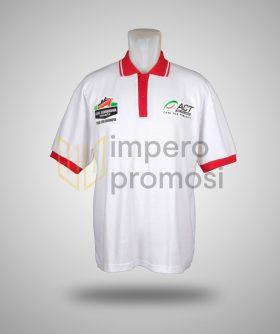 Kaos Polo ACT Putih Merah