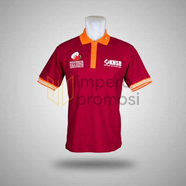 Kaos Polo KNSR Merah Maroon