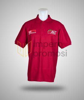 Kaos Polo ACT Merah Maroon