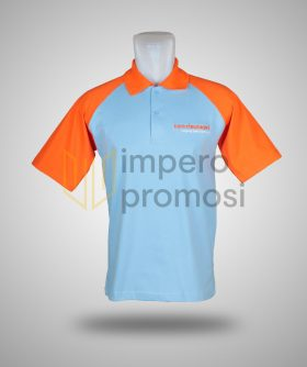 Kaos Polo Bankriaukepri Biru Orange