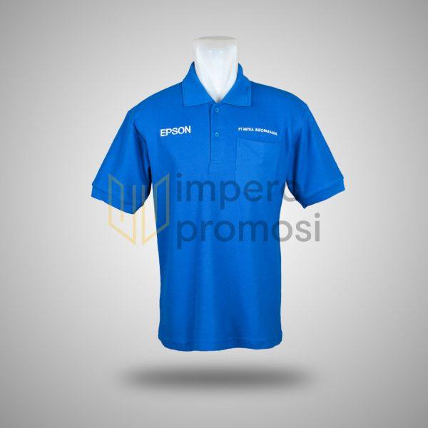 Kaos Polo Epson Biru
